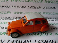 Voiture 1/43 norev citroën 2 CV n°124 orange MANDARINE