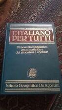 L'ITALIANO PER TUTTI - DE AGOSTINI - 1985