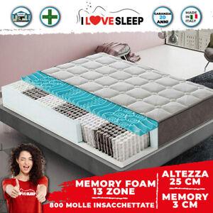 Materasso Molle Insacchettate e Memory 3 cm - Alto 25 cm 13 Zone di Comfort