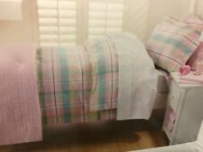 ADAIRS KIDS PASTEL PINK CHECK JEFFERSON DOUBLE BED QUILT COVER BNIP