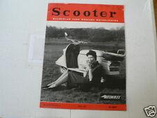 SCOOTER 1961 NO 4 HEINKEL COVER TOURIST 103 A-2 TEST,ZUNDAPP BELLA ADD,RAI,KAMP