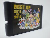 Super 196 in 1 Sega Genesis & Mega Drive Multi Cart 16-Bit Game Cartridge