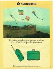 PUBLICITE ADVERTISING   1995   SAMSONITE    ARTICLES DE VOYAGES VALISE