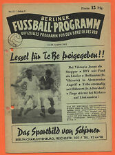 Orig. PRG 15.08.1953 Berlin contract League-All games, brackets, etc.