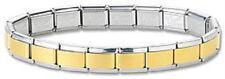 Italian Charm Bracelets Stainless Steel Starter Gold Center 9 mm Modular Links