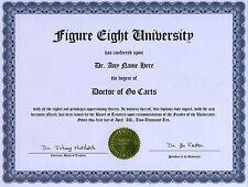 Doctor Go Carts Novelty Diploma Gag Gift Racing Engine
