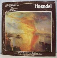33T Livre GEORG FRIEDRICH HAENDEL Vinyl LP 12 Pages GRANDS MUSICIENS Hachette 45