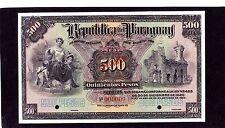 Paraguay 500 pesos fuertes 1923 P-154s Specimen  UNC