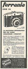 W8758 Macchina fotografica FERRANIA Ibis 34 - Pubblicità del 1958 - Vintage ad