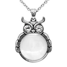 "5X MAGNIFYING GLASS OWL PENDANT NECKLACE 27""- 29"" BY CONTROSE"