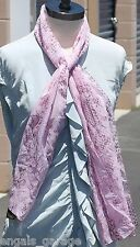 Women's Pink Art of the Scarf Polyester Made in Italy 63x15 inches