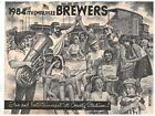 1984 Milwaukee Brewers Pabst Beer fan Give-a-Way drawings of players