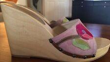 "Women's COACH ""Melaney"" Wedge Sandal Size 8"