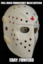 Fiberglass Goalie Mask Jacques Plante style replica with straps and backplate