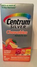 Centrum Silver Chewables Adult 50+ Citrus Berry (60 Chewable Tablets)
