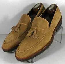 242820 SPi60 Men's Shoes Size 9 M Tan Suede Made in Italy Johnston & Murphy
