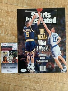 Jason Kidd Cal Bears JSA Signed Sports Illustrated No Label  Nets Mavs Suns HOF