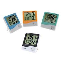LCD Digital Thermometer Hygrometer Temperature Humidity Room Meter Gauge Clock