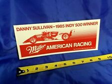 Indianapolis Indy 500 Vintage 1985 MILLER RACING Peel & Stick Decal NEW!
