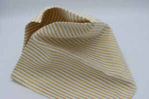 """Set of 7 Golden Pinstripe Holiday Banquet Table Napkins 17"""" x 17"""""""