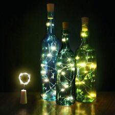Solar Botella de Vino Corcho Forma Cuerda Luz 8/10 Led Noche Hada Lámpara 4.5V