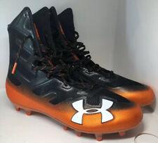 Under Armour Ua Highlight Mc 3 High Top Football Cleats Sz 11.5 Orange / Black