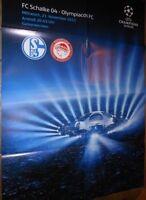 Spielplakat + FC Schalke 04 vs Olympiakos FC + Champions League + 21.11.2012 +