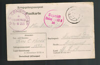 1942 Germany Stalag 18 A Prisoner of War POW Postcard Cover to Deanna Durbin USA