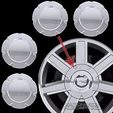 "07-14 Cadillac Escalade 18"" Chrome Wheel Center Hub Caps 6 Lug Rim Cover Hubs C"