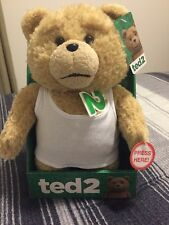 "Ted 2 Movie  11"" Talking Plush Teddy Bear Doll White Tank Top"