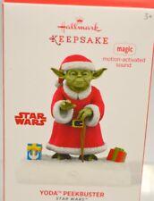 """Hallmark Keepsake 2014 """"Yoda Peekbuster""""-Magic motion-activated sound. Star Wars"""