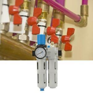 "G1/4"" Air Filter Regulator Combination Lubricator Air Source Treatment 1.6MPA"
