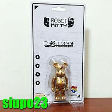 Medicom 100% Bearbrick ~ Action City x Hello Kitty Be@rbrick Gold Robot Kitty