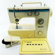 Vintage Sewing Machine NECCHI Model 535FA Foot Pedal Manual Tested/Work New Belt