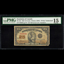New listing Dominion of Canada 25 Cents 1923 W/Out Authorized Pmg 15 Choice Fine P-11 Dc-24c