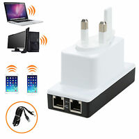 300Mbps Wifi Repeater Signal Range Wireless-N Router Amplifier Booster Broaden