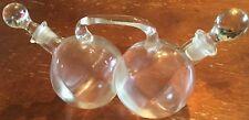 OLD VTG ANTIQUE GLASS DOUBLE BALL CRUIT OIL VINEGAR ODD UNIQUE HANDLE BULB