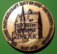 Médaille Anniversaire Du Jumelage Sucy En Brie