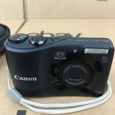Canon PC1586 Powershot A1200 HD 12.1MP 4x Zoom Black w/ 4GB SD Card 6.M1