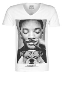 """T-SHIRT """"life is a joke """" Eleven Paris Men Homme Taille S  NEUF WOLY WILL SMITH"""