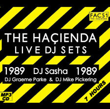RAVE   ACID HOUSE   MP3 CD  OLD SKOOL 1989 THE HACIENDA LIVE DJ SETS