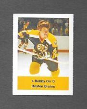 TOUGH~ BOBBY ORR HOF BOSTON BRUINS HOCKEY STAMP #4 VINTAGE 1970 RARE CANADA CARD