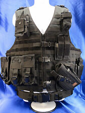 Black Tactical Molle Holster Pistol Mag Radio Flashlight AR Ammo Vest Pouch Lot