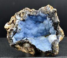 Calcédoine bleue 72 grammes - Mauprévoir, Montmorillon, Vienne, France