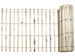 Natural Wood Snow Fence Strand Reusable Garden Fencing for Snow Drifting Durable