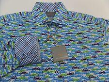 New Thomas Dean Volkswagon Beetle Bug Print Flip Cuff Shirt Mens Size Medium M