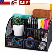 Desk Organizer Pen Pencil Office Accessories Holder 6 Component Mesh 1 Drawer