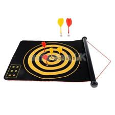 Double Sided Dartboard Roll-Up Magnetic Dart Board with 6 Magnet Darts