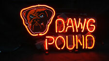 """Cleveland Brown Dawg Pound Neon Light Sign 24""""x20"""" Beer Cave Gift Lamp"""