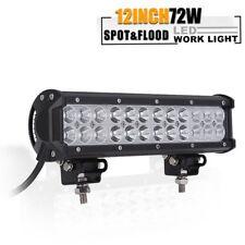 12INCH 72W CREE LED Work Light Bar Spot Flood Combo Offroad Pickup Van ATV 12V